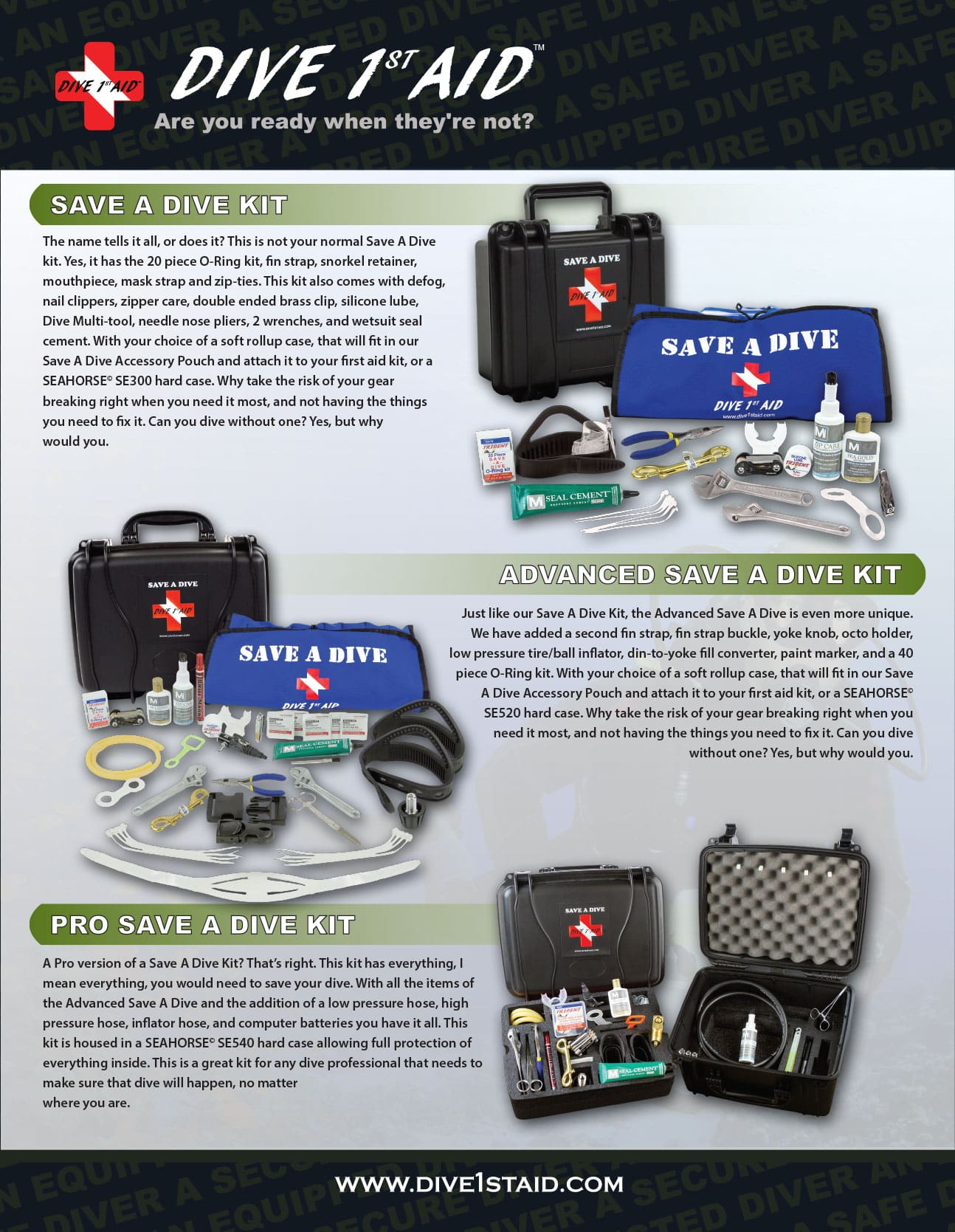 1st Aid kit for Professional Scuba Divers