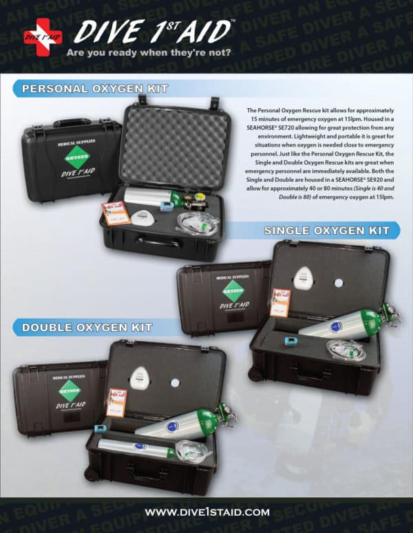 Oxygen 1st Aid kit for Scuba Divers