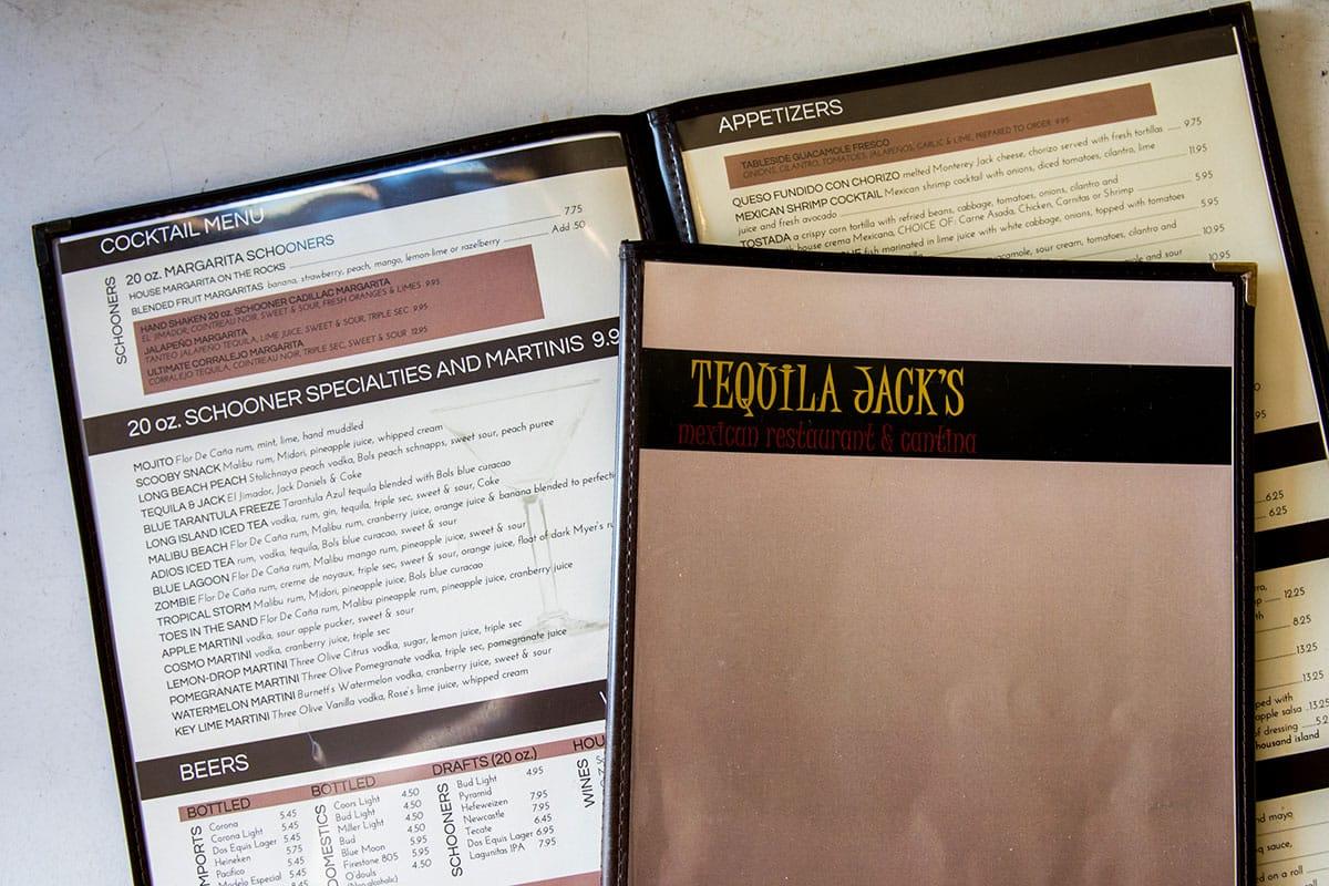 Tequila Jacku0027s Menus