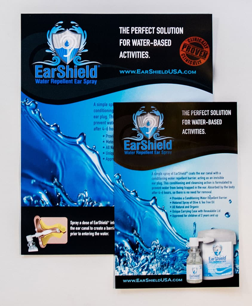 Earshield graphics flyer