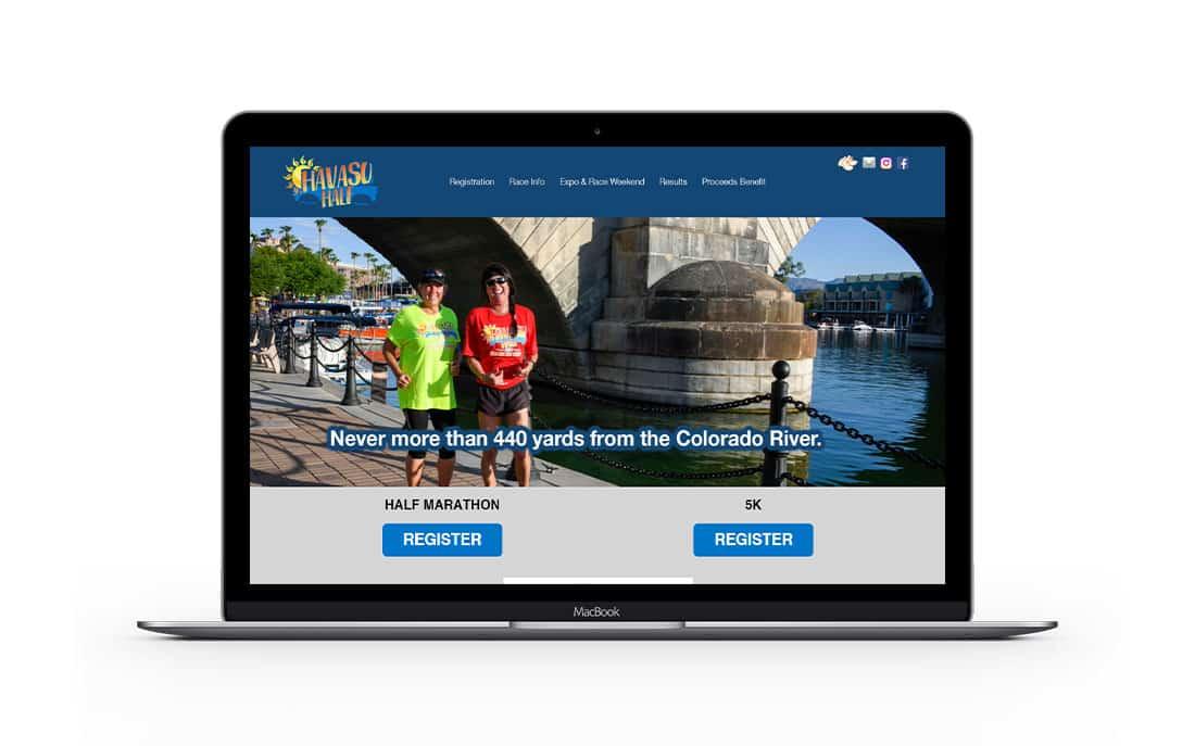 Havasu Half - Website Design Portfolio - AA Graphics